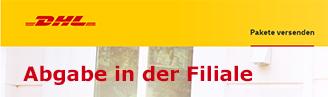 Paketmarke zur Abgabe bei DHL Notebook
